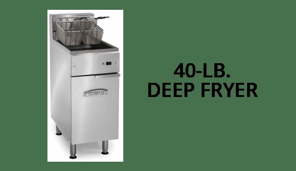 40 lb deep fryer